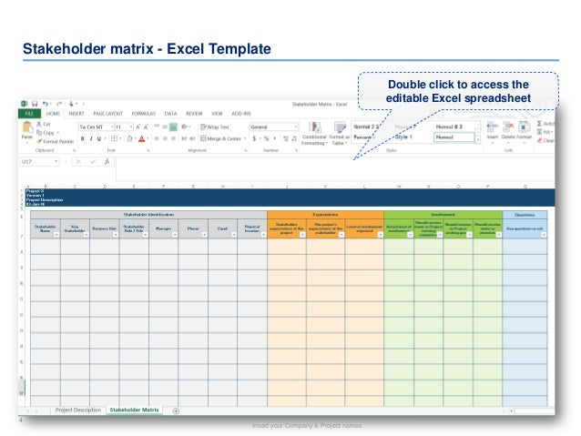 Stakeholder Matrix Template | By Ex-Deloitte & Mckinsey Consultants