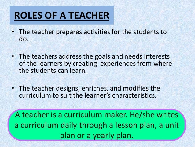 Role of Stakeholders in curriculum implementation