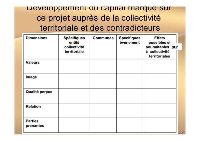 Développement du capital marque sur ce projet auprès de la collectivité territoriale et des contradicteurs IDRAC NANTES M2...