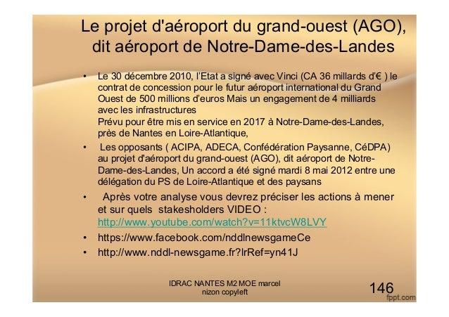 Le projet d'aéroport du grand-ouest (AGO), dit aéroport de Notre-Dame-des-Landes • Le 30 décembre 2010, l'Etat a signé av...