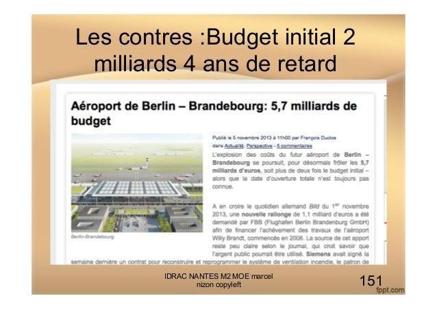 Les contres :Budget initial 2 milliards 4 ans de retard IDRAC NANTES M2 MOE marcel nizon copyleft 151