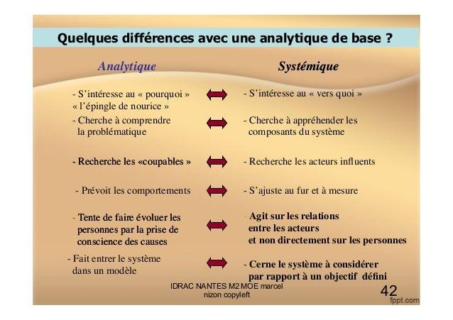Quelques différences avec une analytique de base ? Analytique   - S'intéresse au «pourquoi» «l'épingle de nourice»  ...