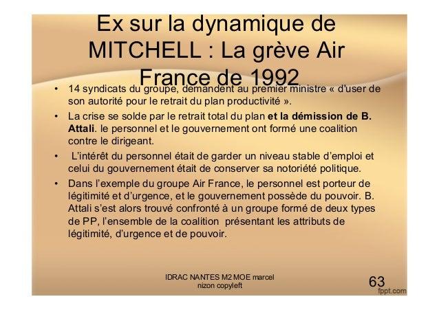 Ex sur la dynamique de MITCHELL : La grève Air France de 1992• 14 syndicats du groupe, demandent au premier ministre « d'...