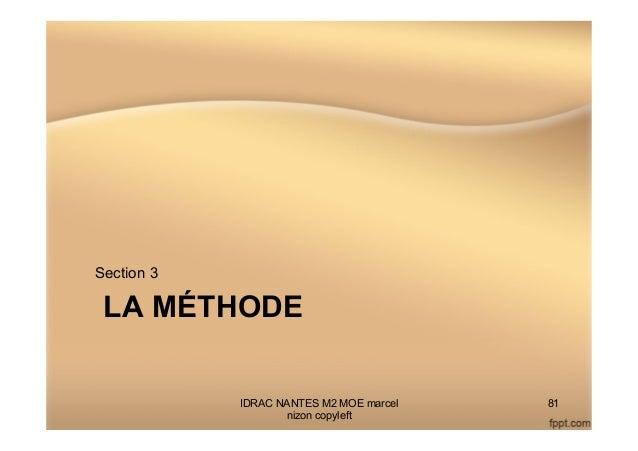 LA MÉTHODE Section 3 IDRAC NANTES M2 MOE marcel nizon copyleft 81