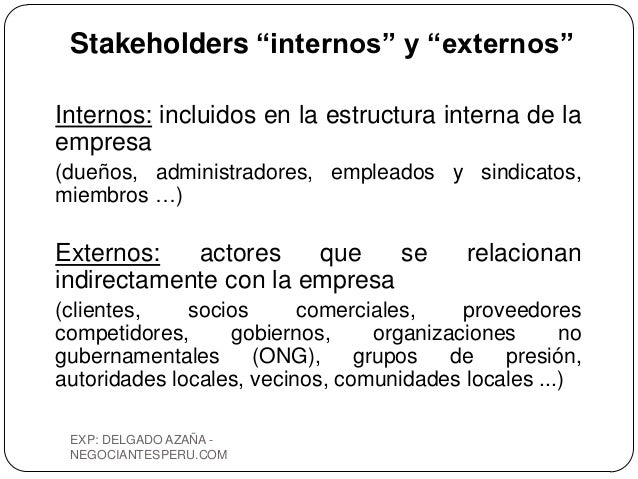 Stakeholders Atencionalcliente