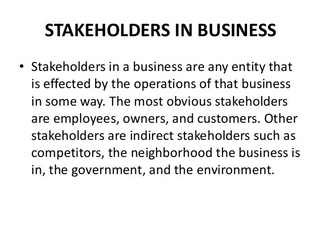 what is the importance of stakeholders