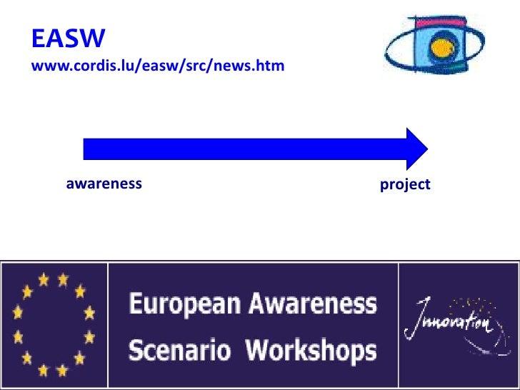 EASWwww.cordis.lu/easw/src/news.htm    awareness                             project                         Rita Salvatore