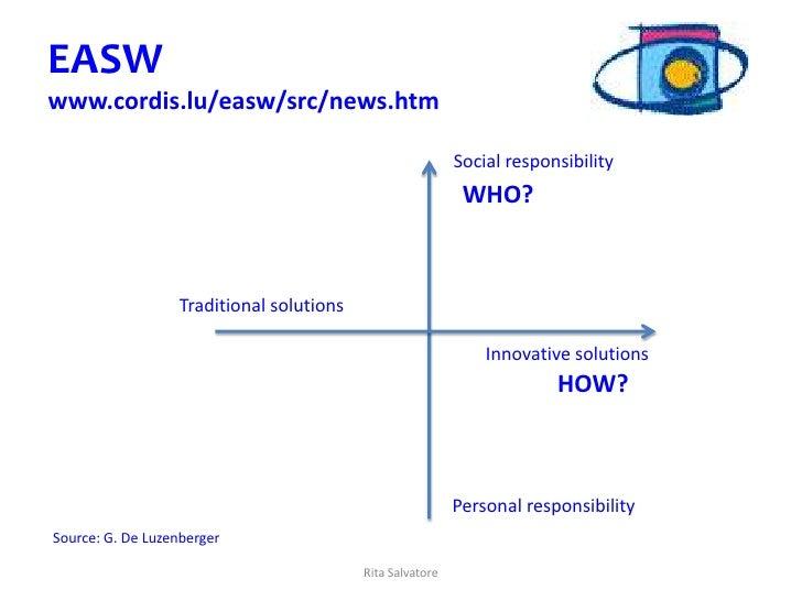 EASWwww.cordis.lu/easw/src/news.htm                                                           Social responsibility       ...