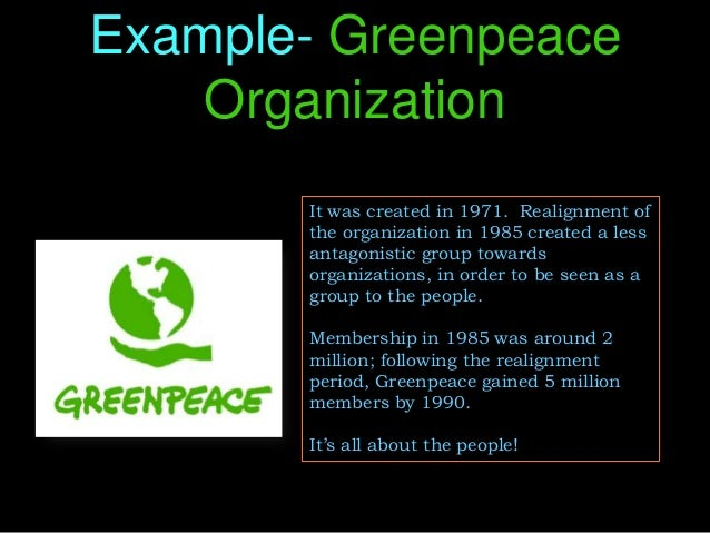 stakeholders greenpeace A model is presented which combines stakeholder theory with a realist theory  of the organization/stakeholder  of greenpeace is used as.