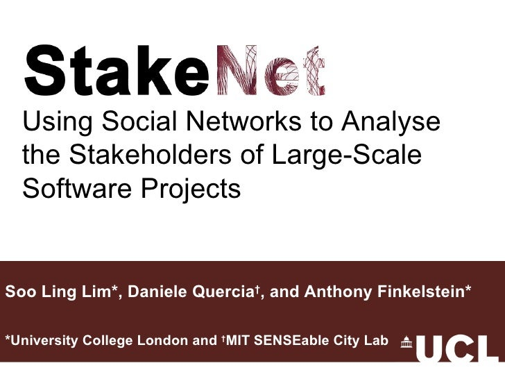 Soo Ling Lim*, Daniele Quercia † , and Anthony Finkelstein* *University College London and  † MIT SENSEable City Lab Using...