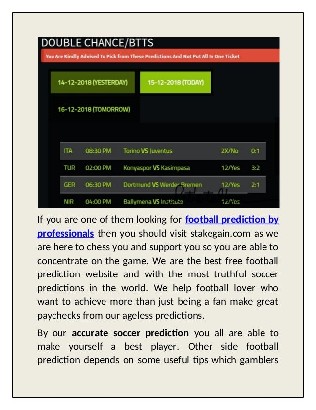 Stakgain -get accurate football prediction here
