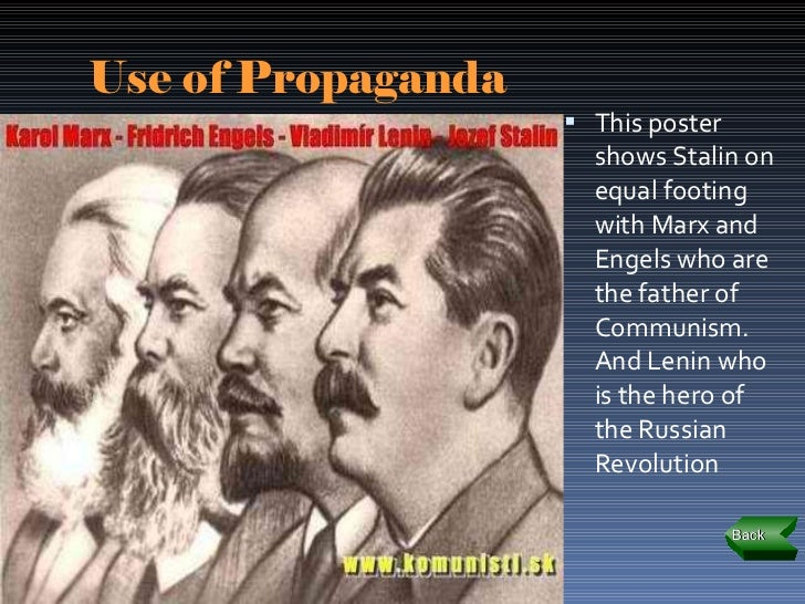 how did stalin use propaganda