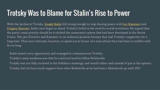 essay on stalins rise to power Rise and fall of joseph stalin was it his rise to power if you are the original writer of this essay and no longer wish to have the essay.