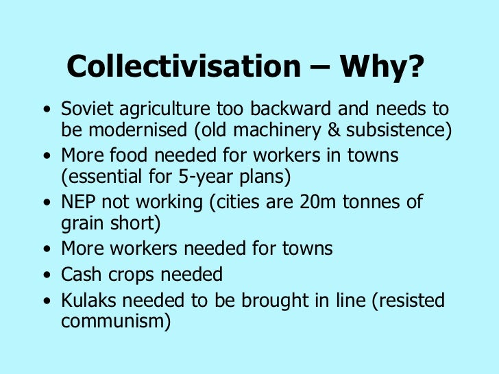 stalin collectivisation essay Free stalin papers, essays, and research papers these results are sorted by most relevant first (ranked search) you may also sort these by color rating or essay length.