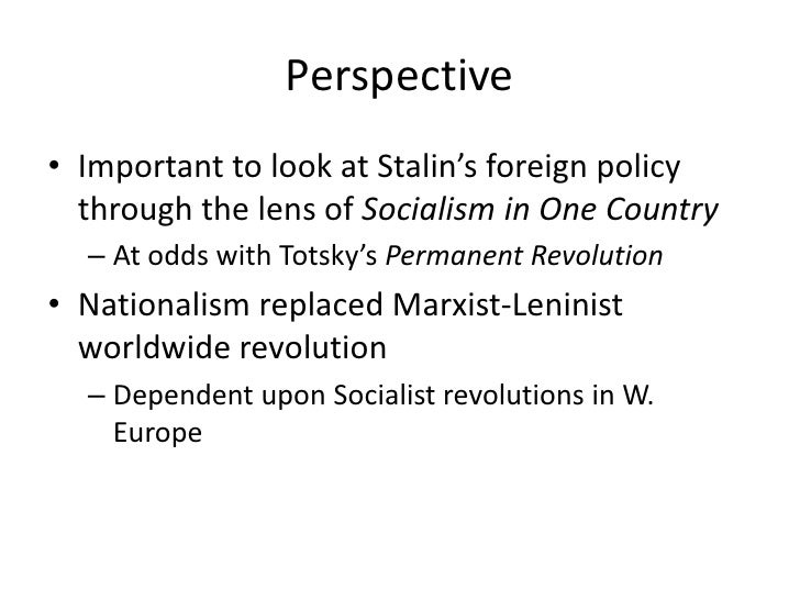 stalins foreign policy essay After stalin khrushchev came into power and soften the soviet approach  real  changes in the soviet foreign policy occurred only when.
