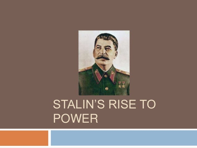 stalin in power essay Two of the most important dictators of the 20th century were hitler and stalin their rise to power after the first world war resemble each other s as the.