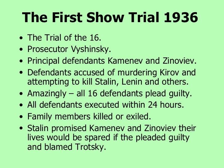 Stalin s show trials essay outline