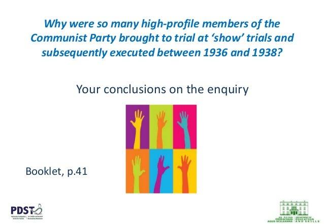 communist party case uni study guides