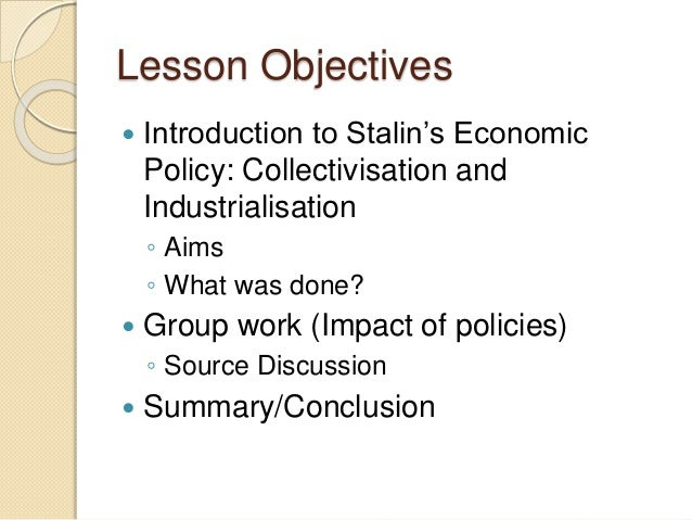 how successful was stalins economic policy The economic policies initially adopted by the regime were a mixture of principle  and  stalin sought to rapidly transform the soviet union from a predominantly.