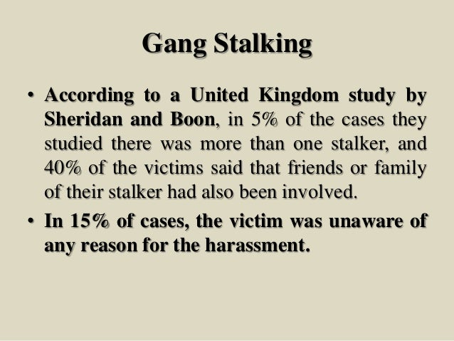 Stalking-A precursor to serious crimes