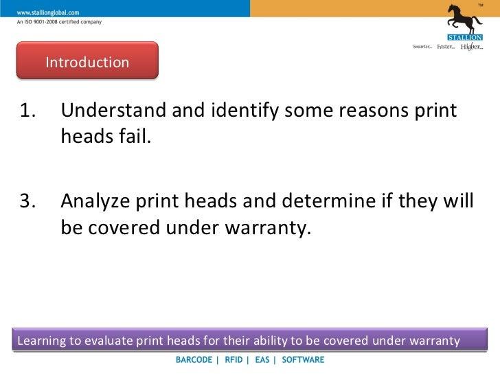Stallion - Thermal Printer - Print Head Slide 2