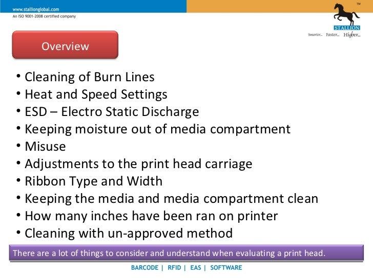 Stallion - Thermal Printer - Print Head Slide 3