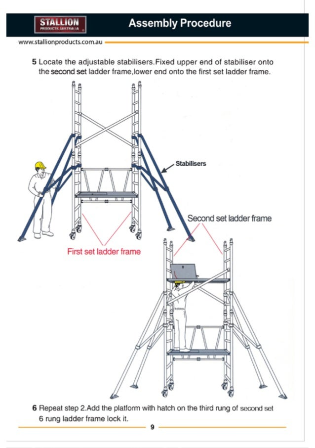 stallion products aluminium scaffold installation guide 9 11