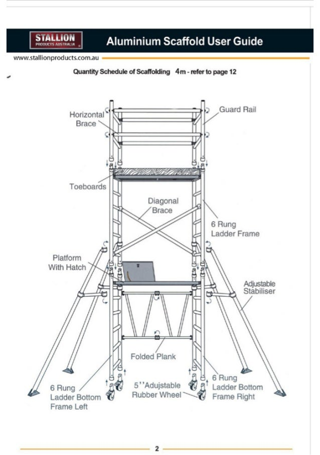 Stallion Products Aluminium Scaffold Installation Guide