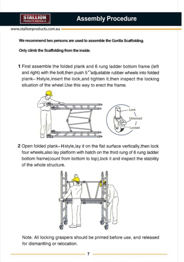 stallion products aluminium scaffold installation guide 9