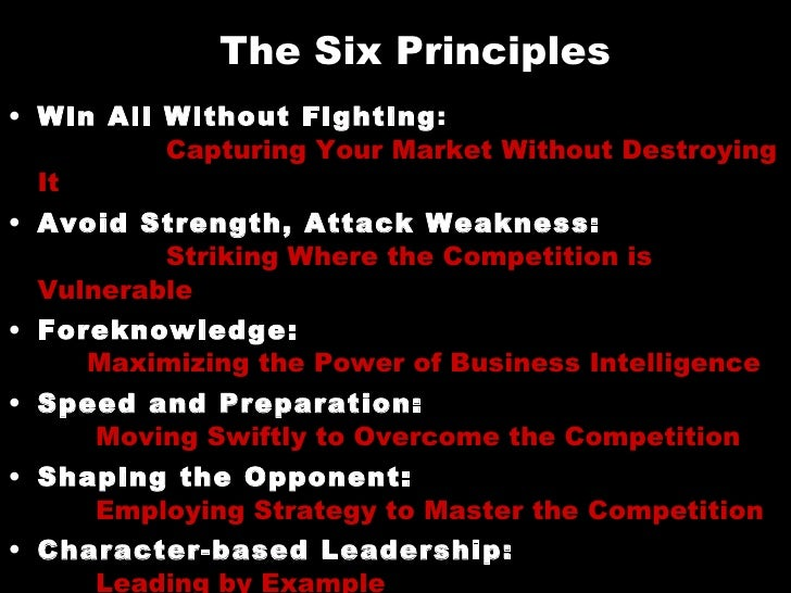 6 Principles Of Art : Sun tzu the art of business triangle ama june