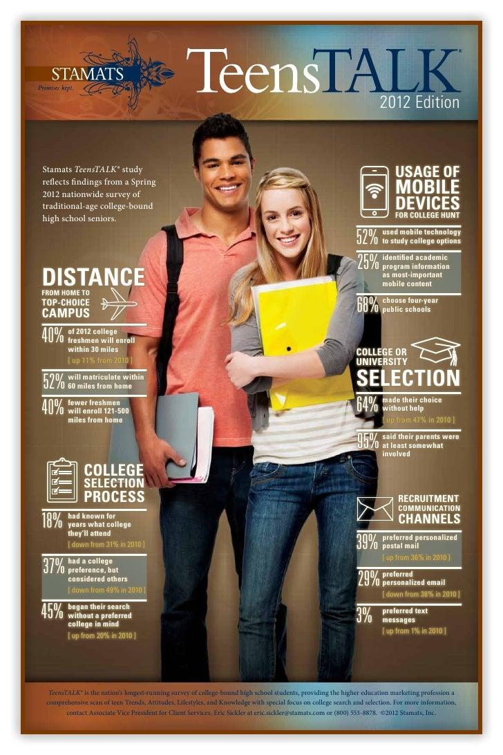 2012 EditionStamats TeensTALK® study                                                                                      ...