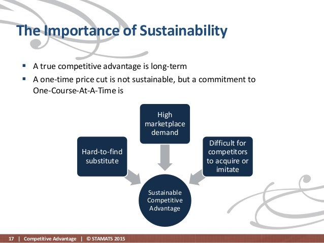sustainable competitive advantage of walmart The article does not address walmart's competitive advantage new title perhaps yes, the company has expanded into many markets, but that is not a cause, but a result of a competitive advantage.
