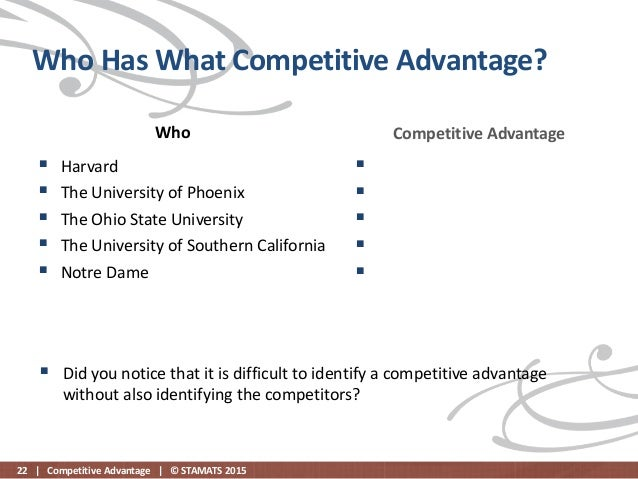 bing s competitive advantages It's official the end of sustainable competitive advantage: review of professor rita mcgrath's landmark new book: the end of competitive advantage : how to keep your strategy moving as fast.