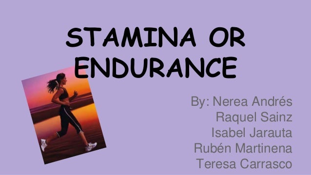 how to build stamina and endurance