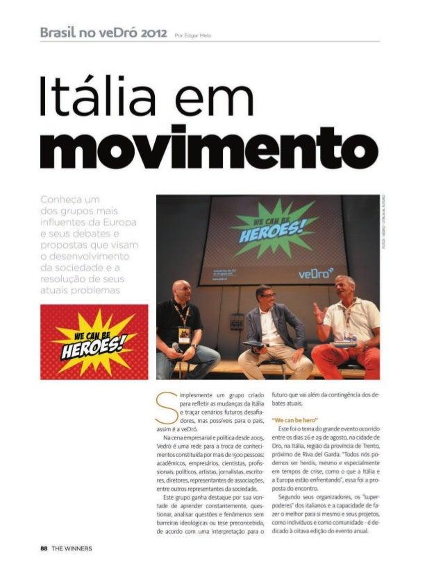 #vedro2012 sulla rivista brasiliana THE WINNER