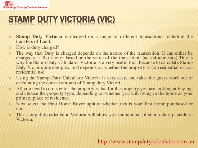 Act Property Stamp Duty Calculator