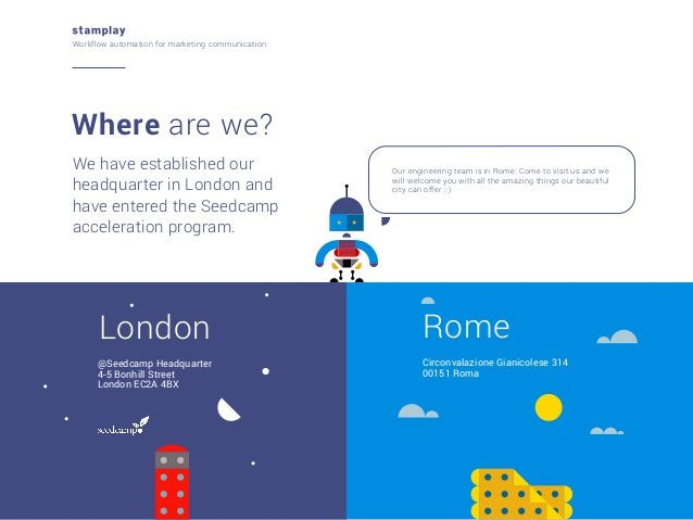 Workflow automation for marketing communication  Where are we? We have established our headquarter in London and have ente...