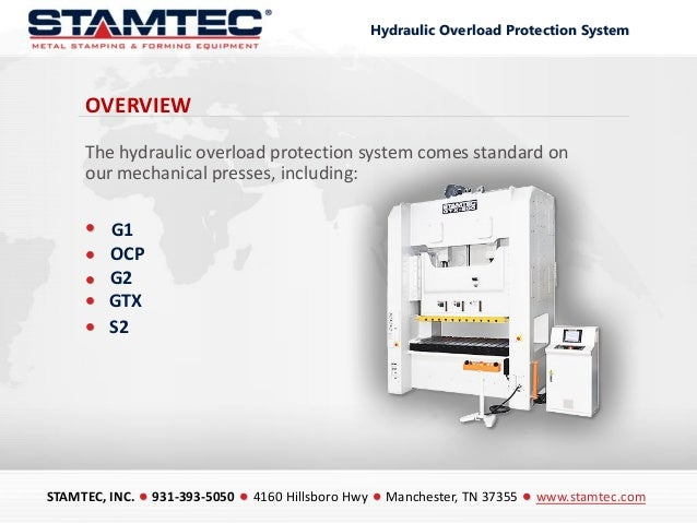 Stamtec Hydraulic Overload Protection Systems Slide 2