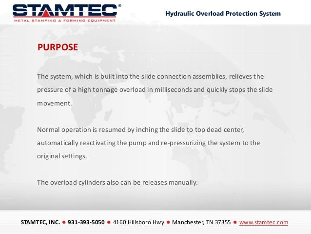 Stamtec Hydraulic Overload Protection Systems Slide 3