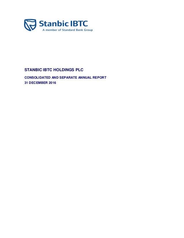 Stanbic IBTC annual report 2016