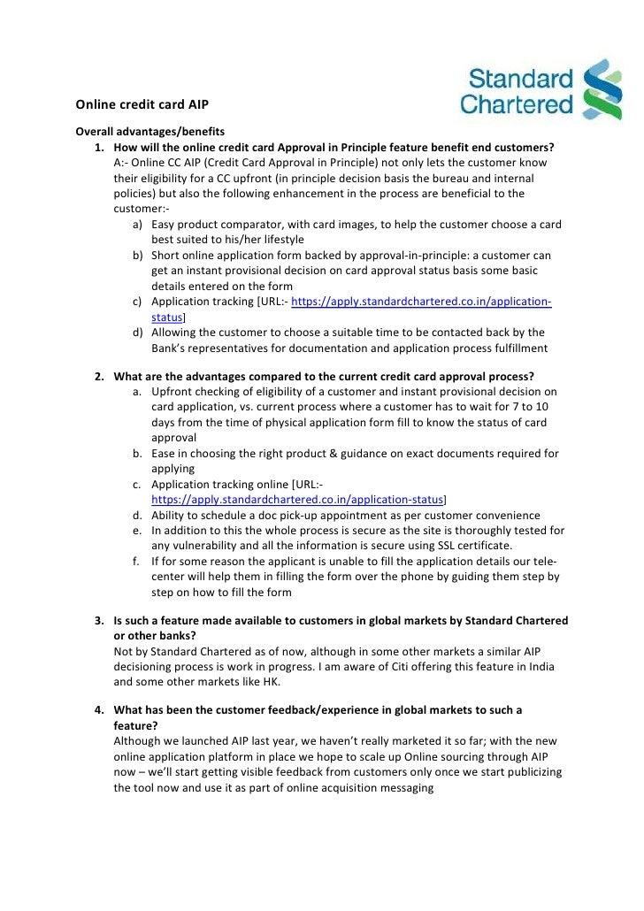 standard credit application form