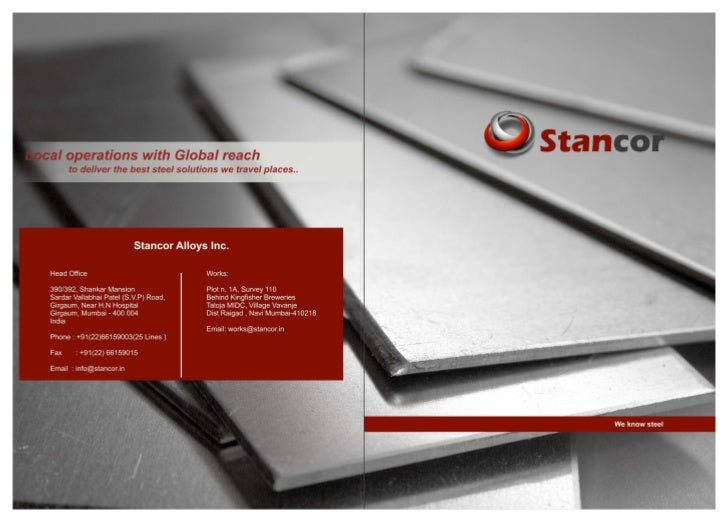 Stancor brochure