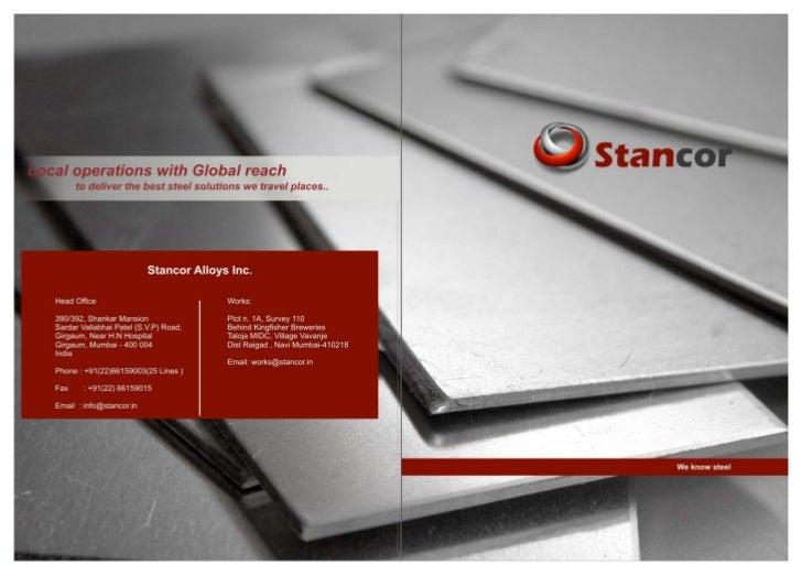 Stancor brochure pdf august 2012