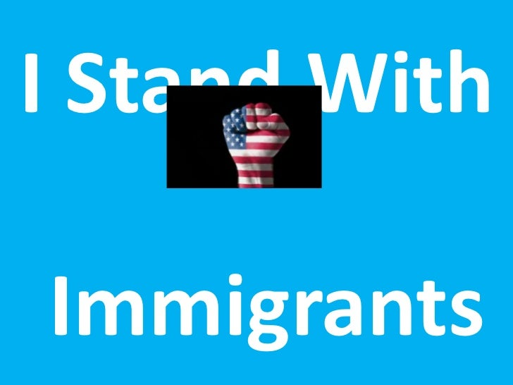 I Stand WithImmigrants