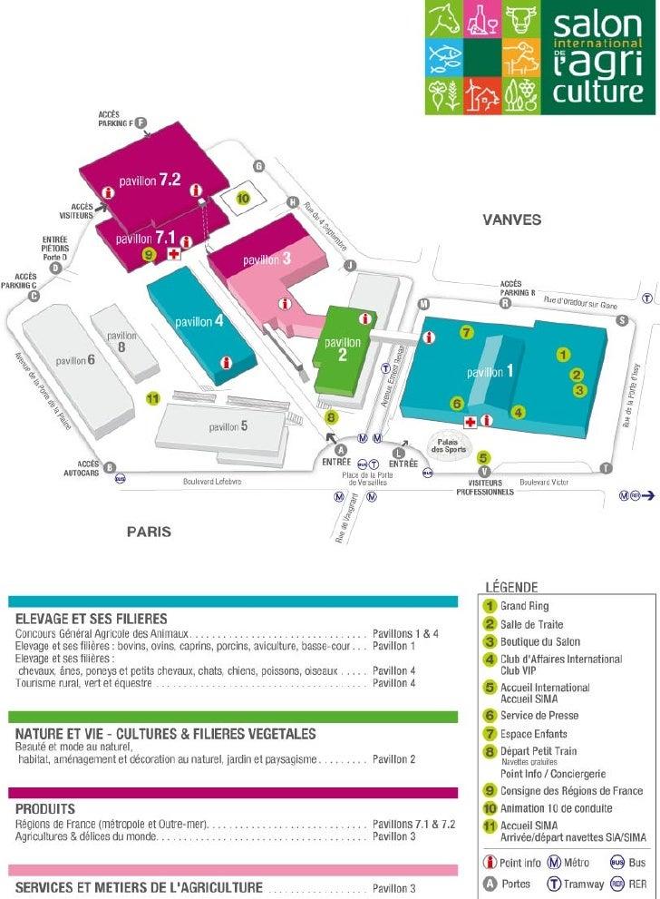 Plan d'accès Salon Agriculture 2011