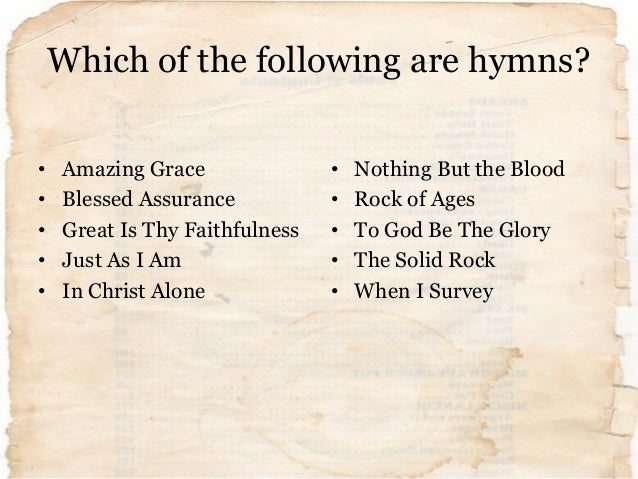 Hymns: Roots and Wings for the Next Generation (supporting slides) Slide 3