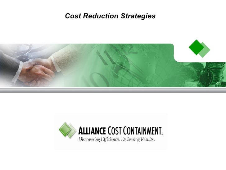 Cost Reduction Strategies