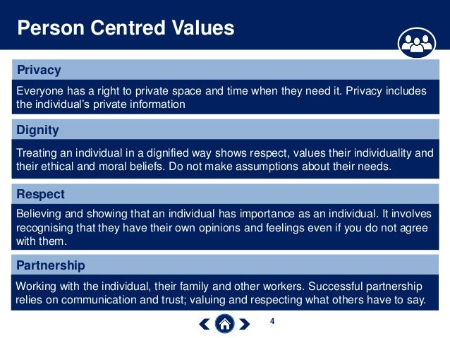 Person centred values
