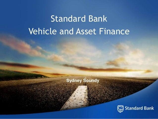 Standard BankVehicle and Asset FinanceSydney Soundy