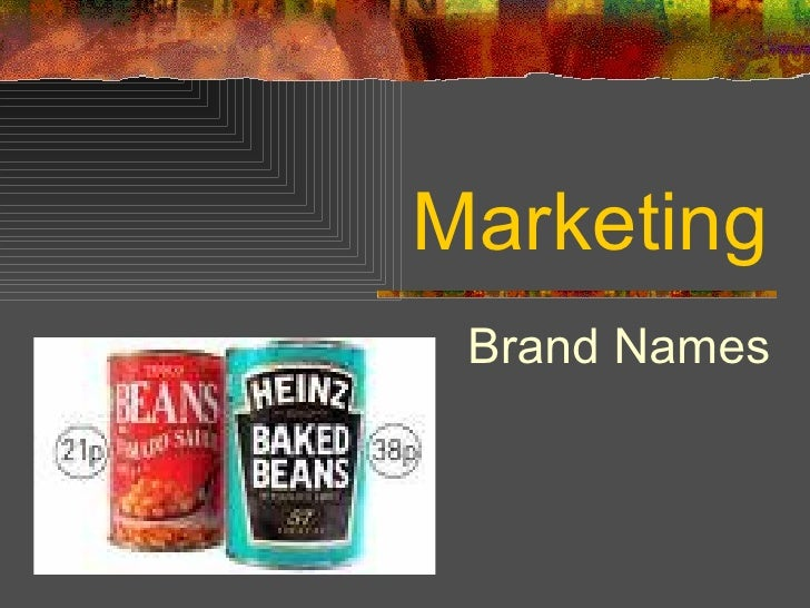 Marketing Brand Names